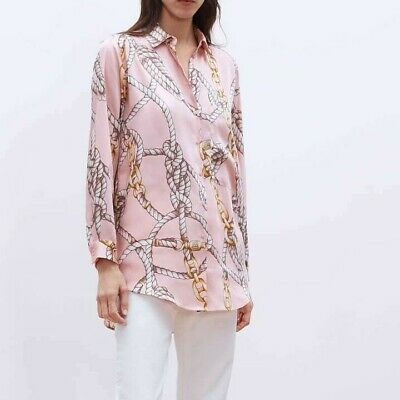 08cb3656 ZARA PRINTED STRIPED SHIRT WITH front KNOT DETAIL-Blue/White-ref ...