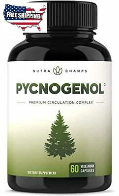 Pycnogenol Pine Bark Premium Supplement With 200mg Herbal Complex For Circulat