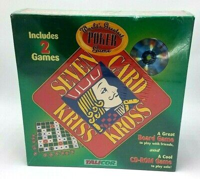 NOS Seven Card Kriss Kross Board Game & CD ROM Game Sealed 2001 Talicor