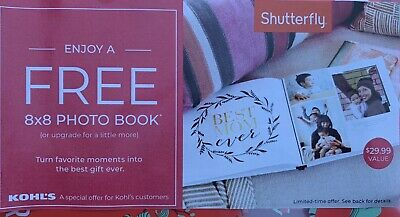 1 Shutterfly Coupon - Get 1 8X8 Photobook - exp 7/31/2019