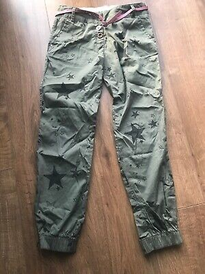 Next Girls Green Star Belted Trousers - Age 11 Years