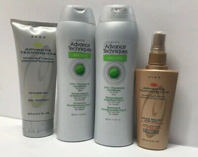 *Lot of 4* Avon Advanced Techniques Daily Shine 2  in 1 Shampoo & Conditioner