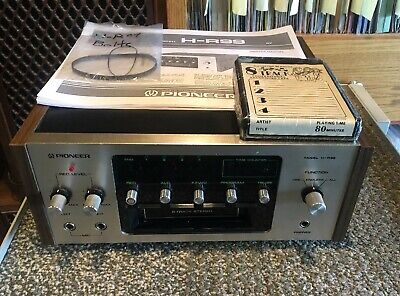 Vintage Rare Pioneer H-R99 8 Track Player/Recorder Serviced Multi Voltage
