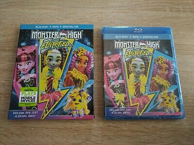 New Sealed Monster High Electrified Blu-Ray + DVD + Digital HD w/ Sleeve Cover