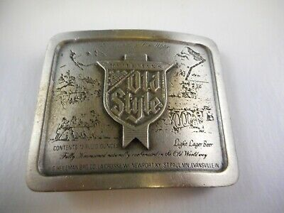 1977 Indiana Metal Craft Old Style Belt Buckle