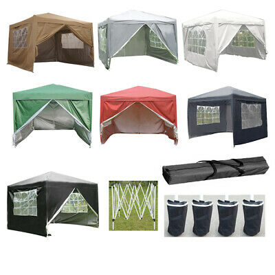 2x2M 2.5Mx2.5M 3Mx3M Pop Up Gazebo Marquee Garden Awning Party Tent Canopy New