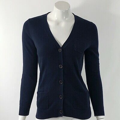 d5fee9307 Gap Cardigan Sweater Size Medium Navy Blue Front Pockets V Neck Button Up  Top