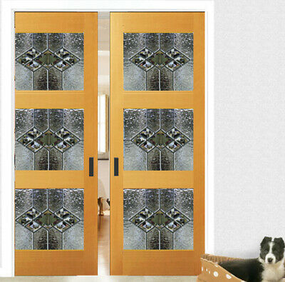 Lead glass Interior Doors Solid wood with Genuine Glass panels ( 3 )