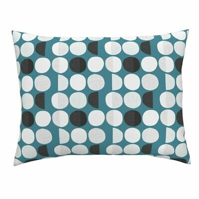 Moon Abstract Moon Phase Geometric Circles Phases Sky Pillow Sham by Roostery
