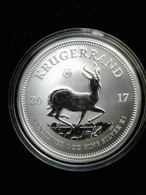 2017 1 oz .999 South African Silver Krugerrand Coin Gem PU with COA
