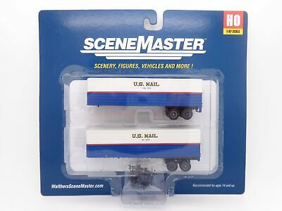 US Mail 35' Fluted-Side Trailer 2-Pack HO - Walthers SceneMaster #949-2426