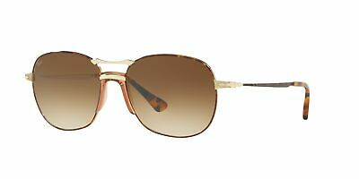 088d7fcf4018 Persol Clear Brown Gradient Aviator Unisex Sunglasses PO2449S 107551 56