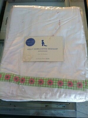 Pottery Barn Kids Kelly Crib Cribskirt Bedskirt Nip