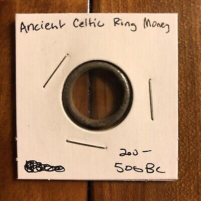 Ancient Celtic Ring Money Proto-Coin Authentic Artifact 200-500BC Currency Old