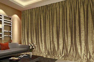 Large Thick Velvet Curtain Stunning Flocking 270x230cm+2m blockout+15Hooks