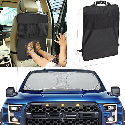 Car Auto Care Seat Back Protector Cleaning Cover For Children Kick Mat/Sun Shade