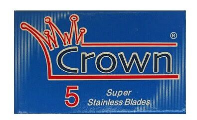 100 x Crown Super Stainless Safety Razor Blades