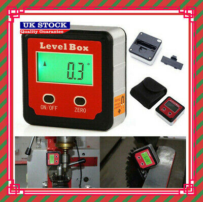 Digital Inclinometer Spirit Level Box Protractor Angle Finder Gauge Meter Tool