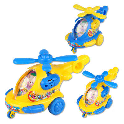 Baby Helicopter Clockwork Classic Toy Kid cartoon Animal Wind Up Toys Gift _DM
