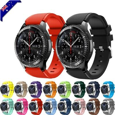 For Samsung Galaxy Watch 46mm S3 Sports Silicone Replacement Bracelet Strap Band