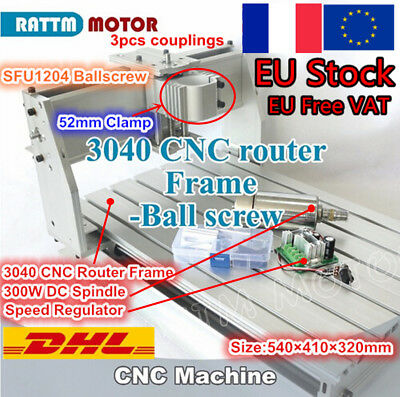 ┃FRA┃Desktop 3 Axis 3040 300W Spindle CNC Router Engraver Milling Machine Frame