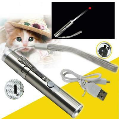 Pet Lovers Premium Rechargeable Red Laser Pointer & Lazer/Flashlight Cat Fun Toy