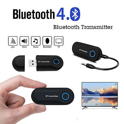 Wireless Bluetooth Transmitter Stereo Audio Music Adapter for TV Phone PC Q5E8