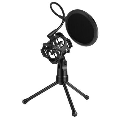 Desktop Mic Wind Screen Mask Shied Pop Filter for Microphone Shock Mount+Tripod