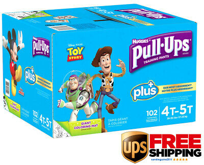 Huggies Pull-Ups Plus Training Pants for Boys Size 4T-5T: 38-50lbs, 102ct