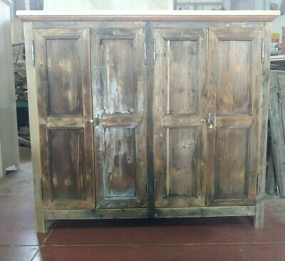 Stipo Credenza Cucina Mobile Vintage Industry Country Shabby Abete