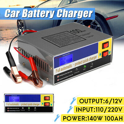 NEW Electric Auto Car Battery Charger 12v/24V 10A Boat Caravan Motorcycle AU
