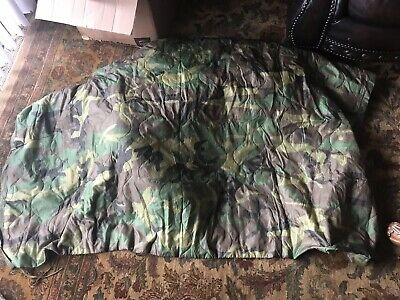 Us Military Issue Woodland Camo Wet Weather Army Poncho Liner / Blanket