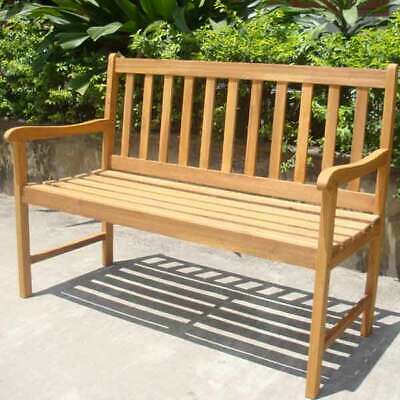 Outdoor Garden Furniture FSC Wooden 2 Seater Garden Patio Bench Hardwood Seat