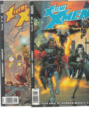 X-TREME X-MEN. Nºs.  16.  29.    ( LOTE  2  NUMEROS  )   FORUM...