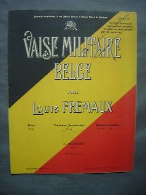 Partition Musicale - VALSE MILITAIRE BELGE