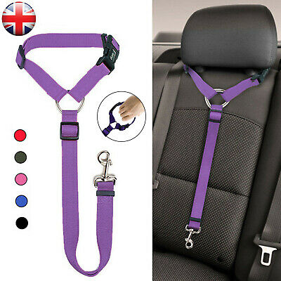 Adjustable Pet Dog Travel Seat Belt Clip Lead For Car Safety Restraint Harness U