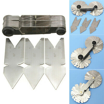 Foldable Inch Metric Centre Gage Screw Gauge Tool Set Cutting Thread Pitch