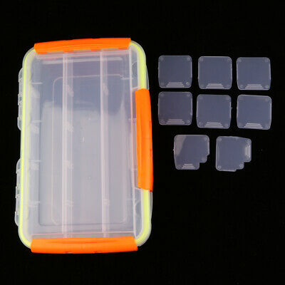 Plastic Fishing Lures Baits Hooks Tackle Cell Storage Container Organizer