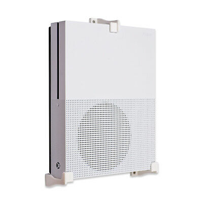 Wall Mount for Xbox One S Game Console - White (3 Legs)