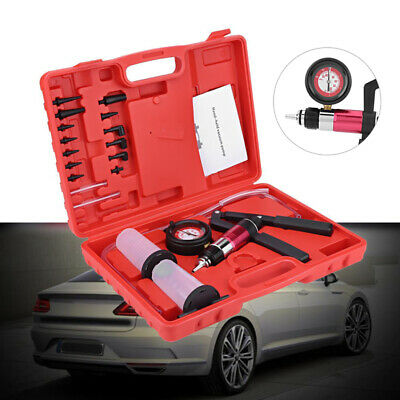 Car Brake Bleeder Oil Exchange Hand Held Vacuum Pump Tester Set with Adapter Box