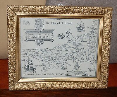 1576 Saxon Map of the Chanell of Bristol