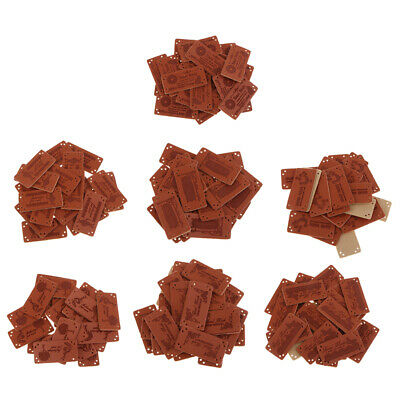 20Pcs PU Leather Labels Handmade Tags for Clothes Bags Sewing Craft Supplies