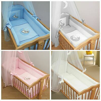 Baby Crib Long 4-Sided All Round Bumper for 90x40 cm Kids Children Cradle