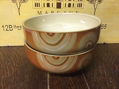 Denby - Fire Chilli Cereal Bowl x 2 Brand New