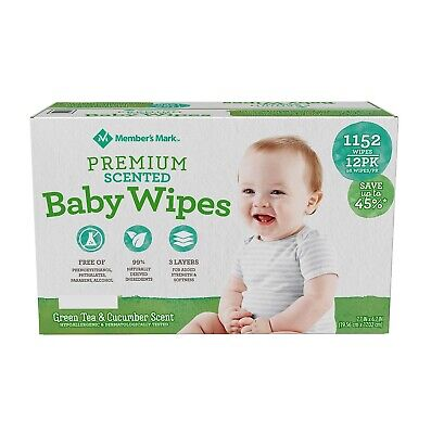 Free Shipping 1152 ct. Member/'s Mark Premium Scented Baby Wipes