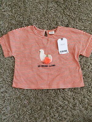Girls NEXT T Shirt Llama 3-6 Months New with Tags