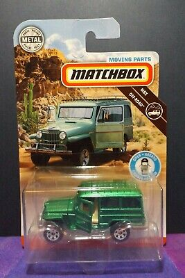 2019 Matchbox MOVING PARTS '62 JEEP WILLYS WAGON. MBX OFF-ROAD.