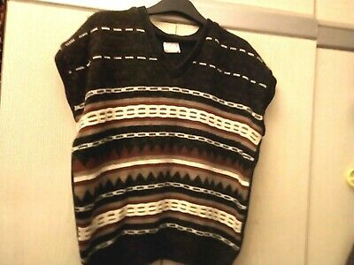 Knitted Tank Top,32 Inch Chest,Browns/Beige/Tan,