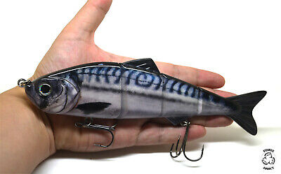 EXTRA LARGE 8'' (200mm) Swimbait Multi Jointed Fishing Lure MACKEREL