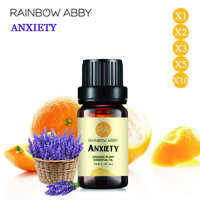 Aromatherapy Essential Oils Anxiety Natural Pure Organic Therapeutic 3x 2x 10ml